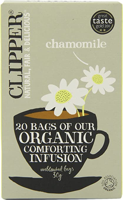 Clipper Organic Infusion Chamomile 20 Tea Bags (Pack of 6): Amazon ...