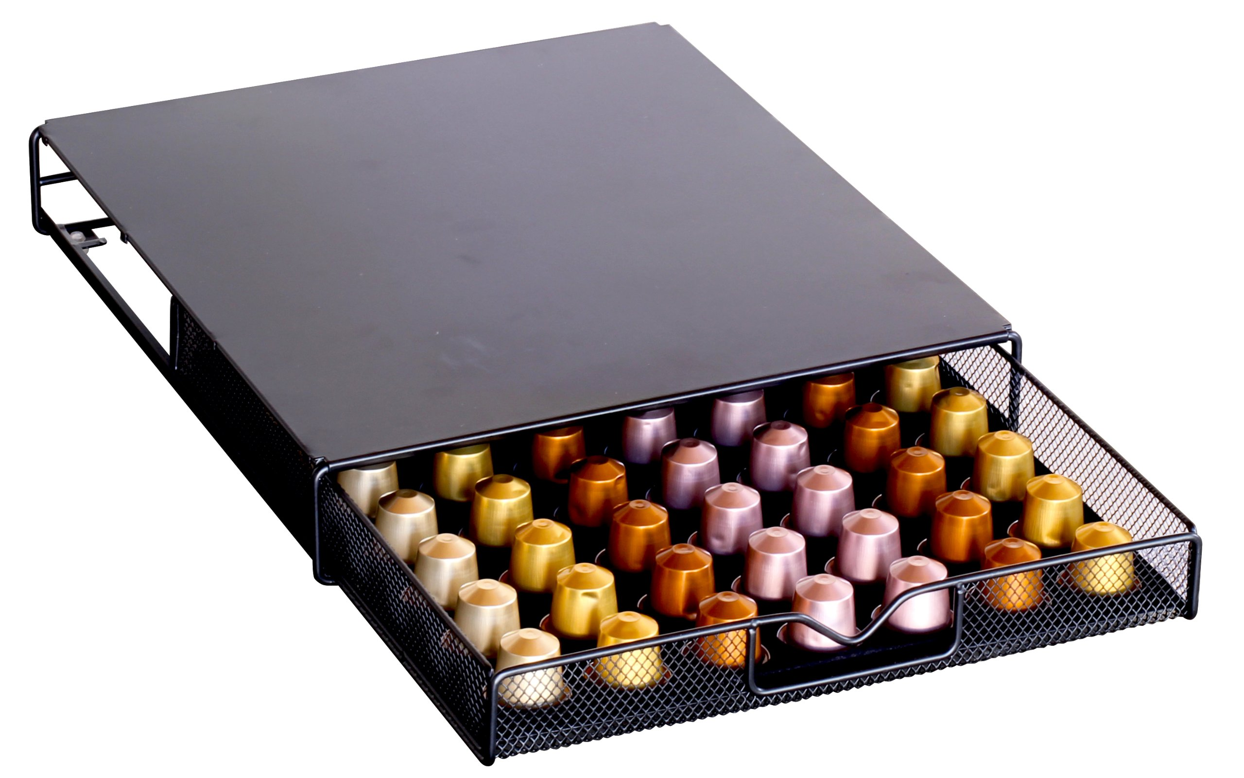 Charmant DecoBros Coffee Pod Storage Mesh Nespresso Drawer Holder For 56 Capsules,  Black