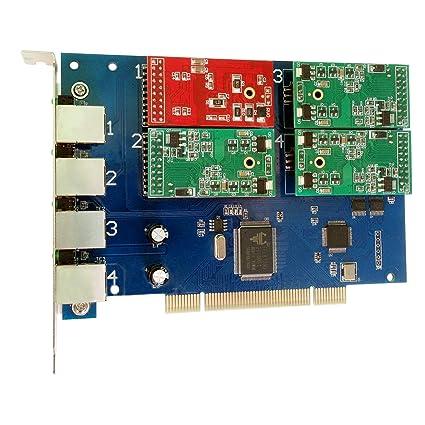 Amazon com: 4 Port Analog PCI Card with 3 FXS + 1 FXO Ports