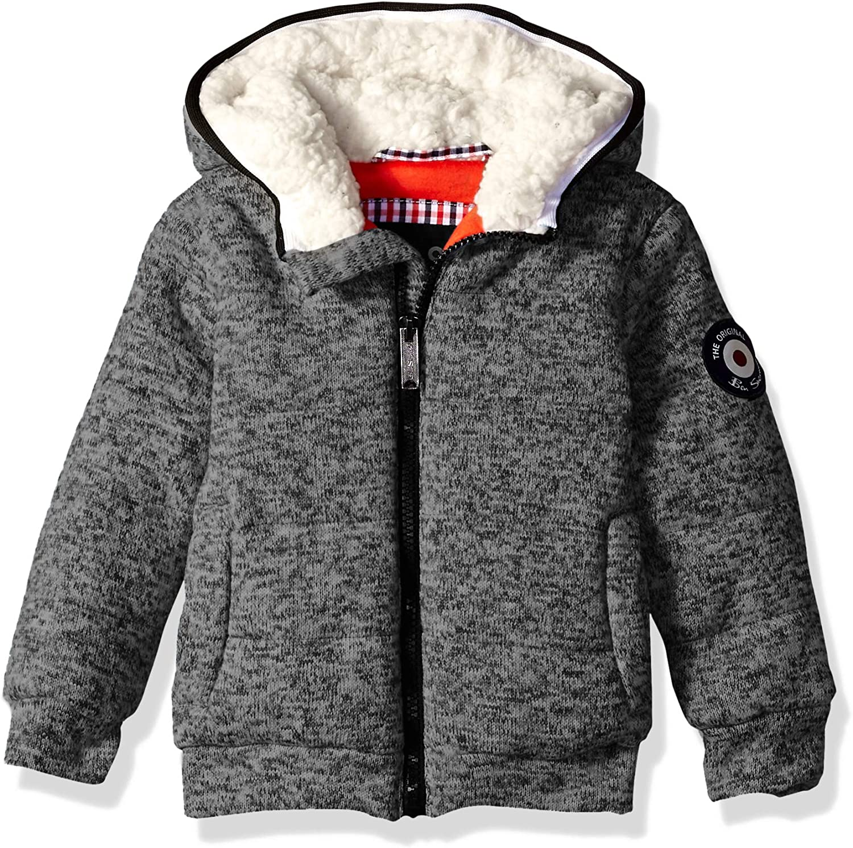 Heather Ben Sherman Boys Toddler Sweater Fleece Jacket