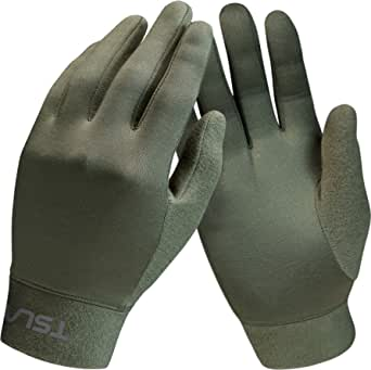 TSLA Men and Women Cold Weather Running Gloves, Fleece Lined Thermal Winter Gloves, Lightweight Sports Cycling Gloves