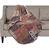 "SLPR Red Riches Printed Quilted Throw Blanket (50"" x 60"") 