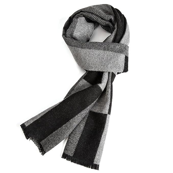 VICWARM Bufanda cálida de otoño e invierno, Bufandas para hombre de estilo clásico y elegante