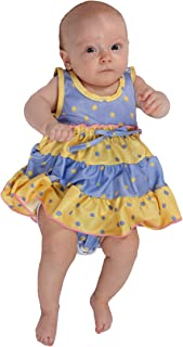 product image for Laura Dare Baby Girls Buttercup Frilly Itsy Bitsy Jumpsuit Onesie