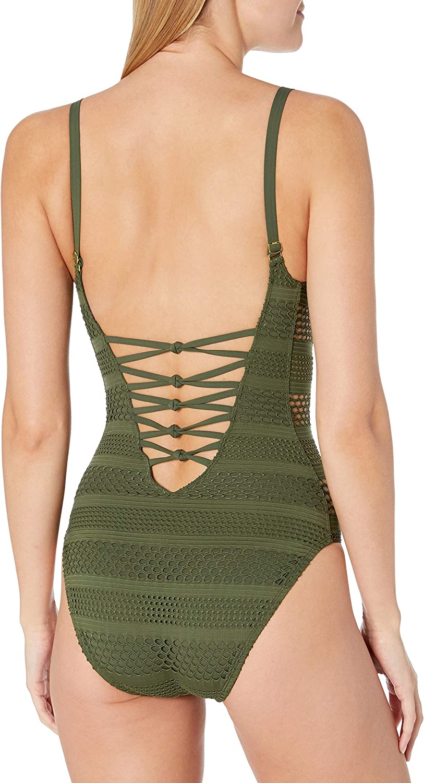 Bleu Rod Beattie Womens Sheer Thing One-Piece Swimsuit