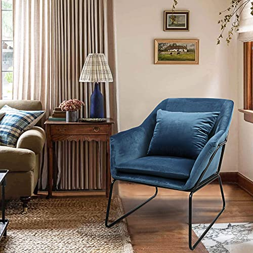 JAXSUNNY Modern Single Person Upholstered Fabric Arm Accent Leisure Chair