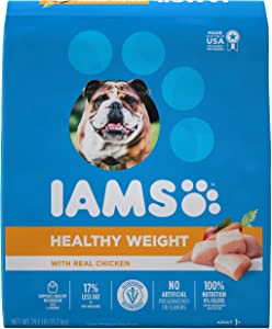 IAMS PROACTIVE HEALTH Adult Healthy Weight Control Dry Dog Food with Real Chicken, 29.1 lb. Bag