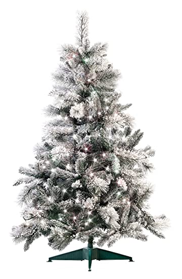 infactory Tannenbäume: Künstlicher Weihnachtsbaum im Schneedesign, 180 cm, mit 300 LEDs (Künstlicher Weihnachtsbaum Schnee)