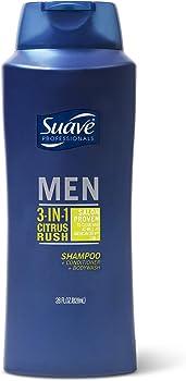 2-Pack Suave Men 3-in-1 Shampoo Conditioner Body Wash