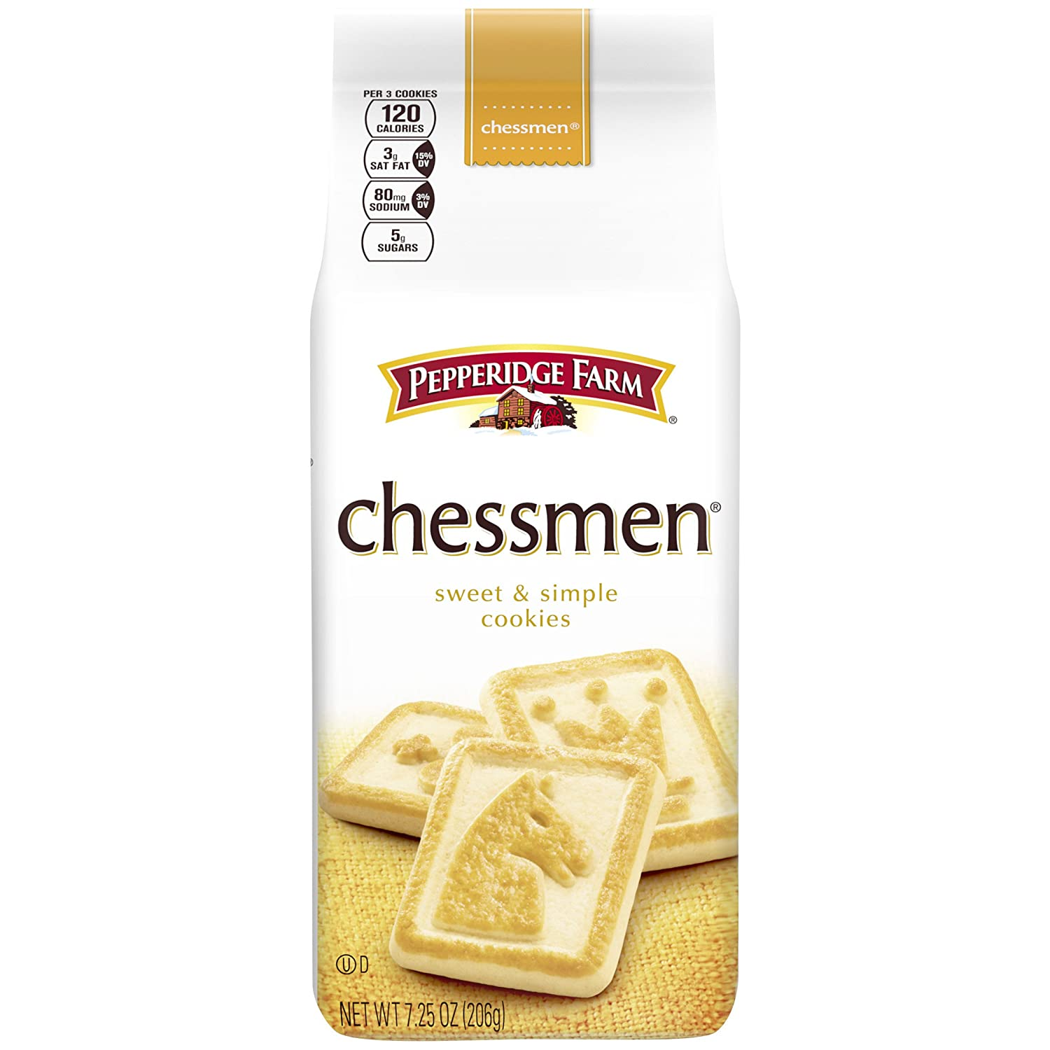Amazon Com Pepperidge Farm Chessmen Cookies 7 25 Ounce Bag 24 Count Grocery Gourmet Food