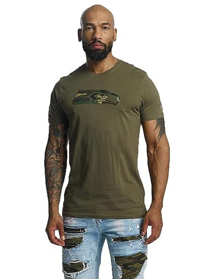27ad47d5b New Era Men T-Shirts NFL Camo Seattle Seahawks Olive 3XL  Amazon.co ...