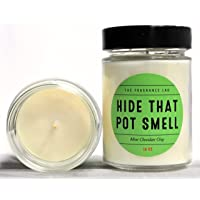 """Soy Candles -""""Hide That Pot Smell"""" Mint Chocolate Chip Scented 