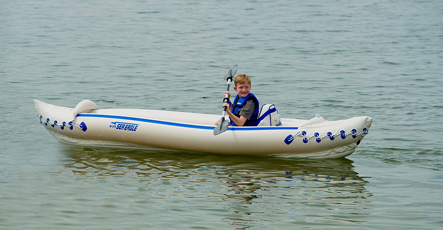 Sea Eagle SE370 Inflatable Sports Kayak QuickSail Package