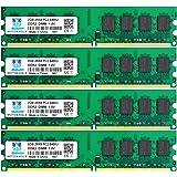 DDR2 PC2-6400 PC2-6400U 800MHz, Motoeagle DDR2-800 2RX8 240-Pin DIMM Desktop Memory 8GB Kit (4x2GB)