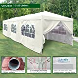 Quictent 10 x 30 Outdoor Gazebo Wedding Party Tent Canopy With Removable Sidewalls & Elegant Church Window