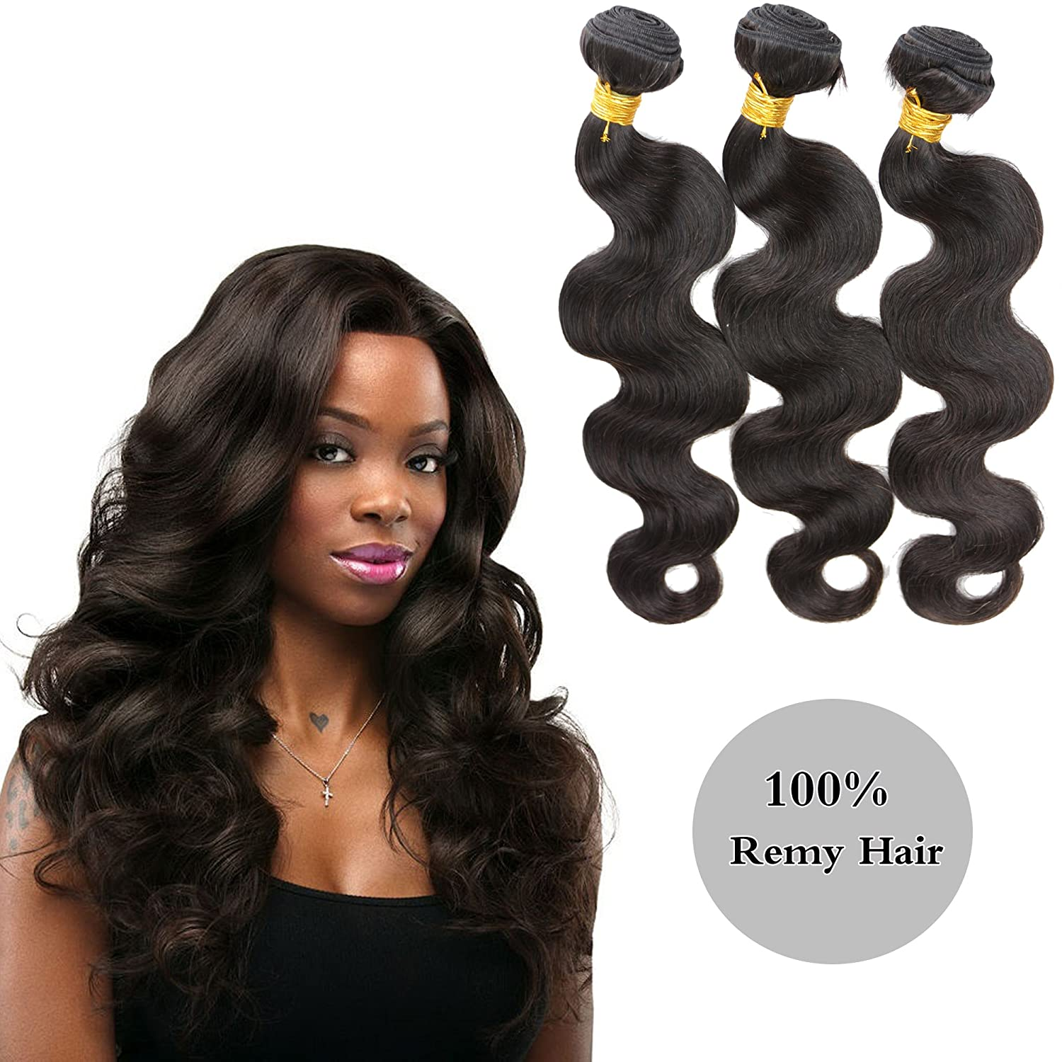 Best Human Hair Weave Unprocessed Brazilian Hair Extensions For Thin