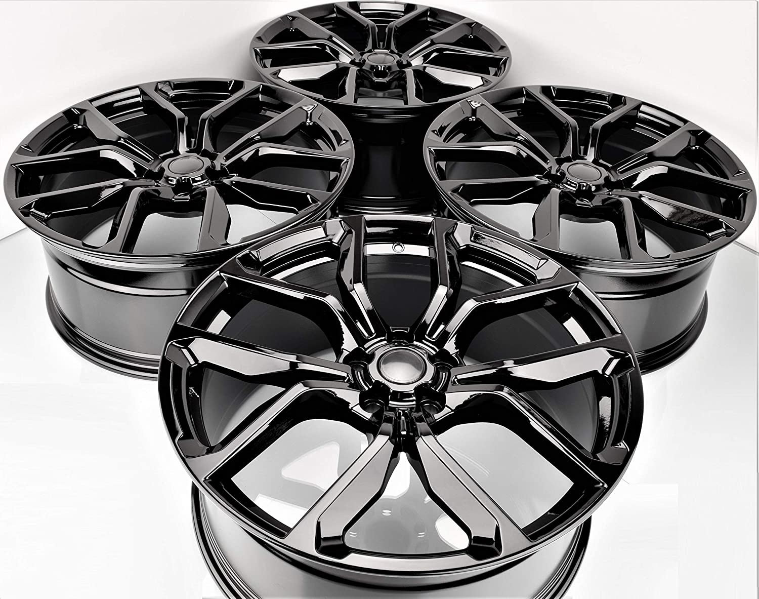 """22"""" Inch 2020 Latest Style Black Wheels Rims (Full Set of 4) fit for Land Rover SVR Range Rover Sport Discovery 3 4 5 1386 B"""