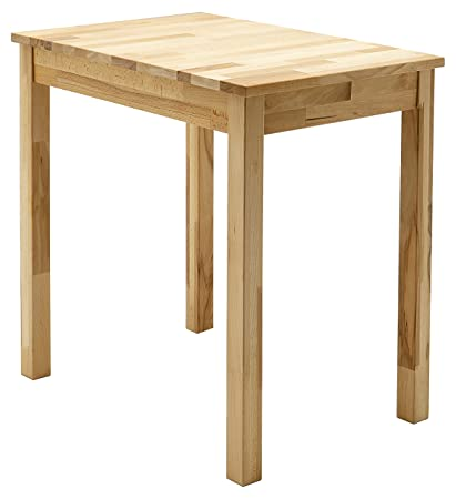 Robas Lund, Tisch, Esszimmertisch, Alfons, Kernbuche/Massivholz, 70 x 76 x 50 cm, ALF050KB