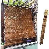 L-DREAM Vintage bamboe rolgordijn, 140 cm, buiten zonnescherm, gemakkelijk op te hangen, houten verduisteringssluiter…