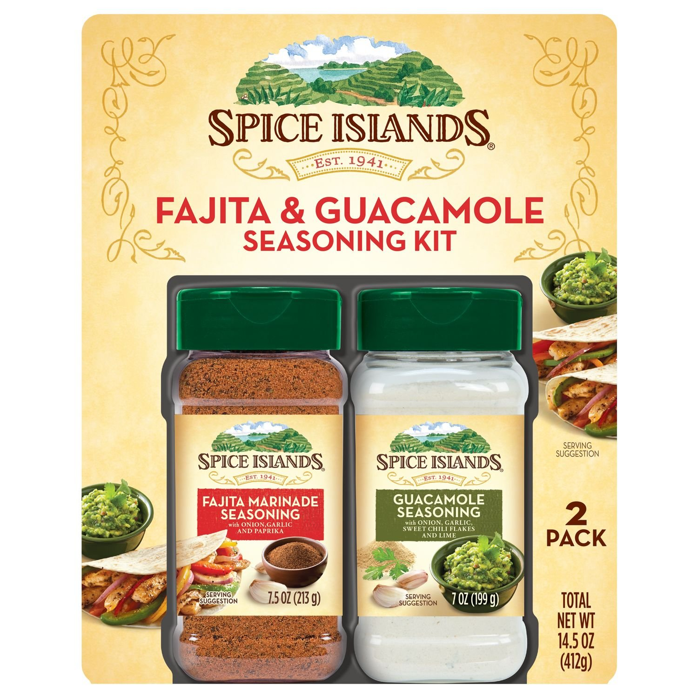 Spice Islands Fajita & Guacamole Seasoning Kit - 2 Pack