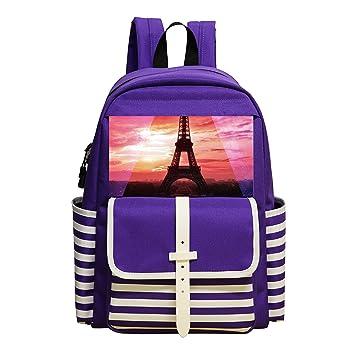 Cool de la torre Eiffel Tumblr Fashion mochila escolar mochila para niños y niñas: Amazon.es: Oficina y papelería