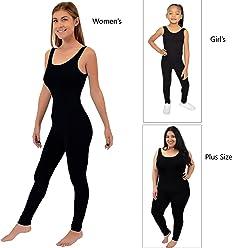 7e69fc0be4e Stretch is Comfort Teamwear Youth Women s Plus Size Cotton Tank Unitard