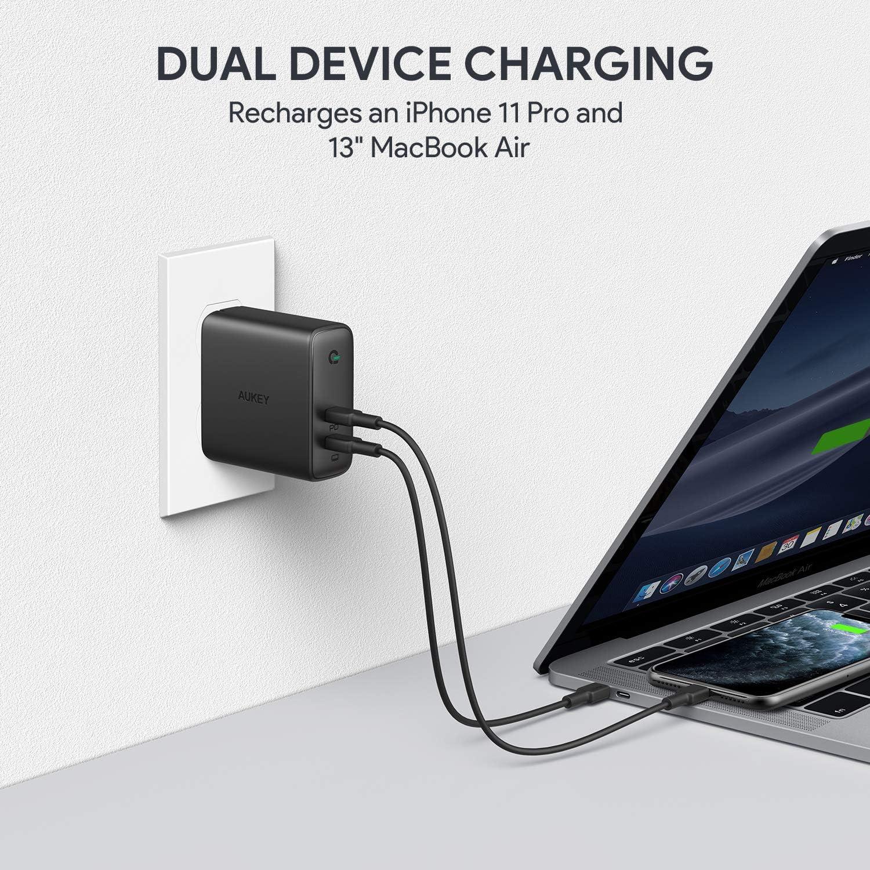 Amazon.com: AUKEY - Cargador USB C de 60 W PD 3.0 con ...