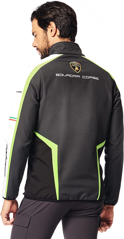 Corse Lamborghini Softshell Jacket Automobili Lamborghini Mens Sq