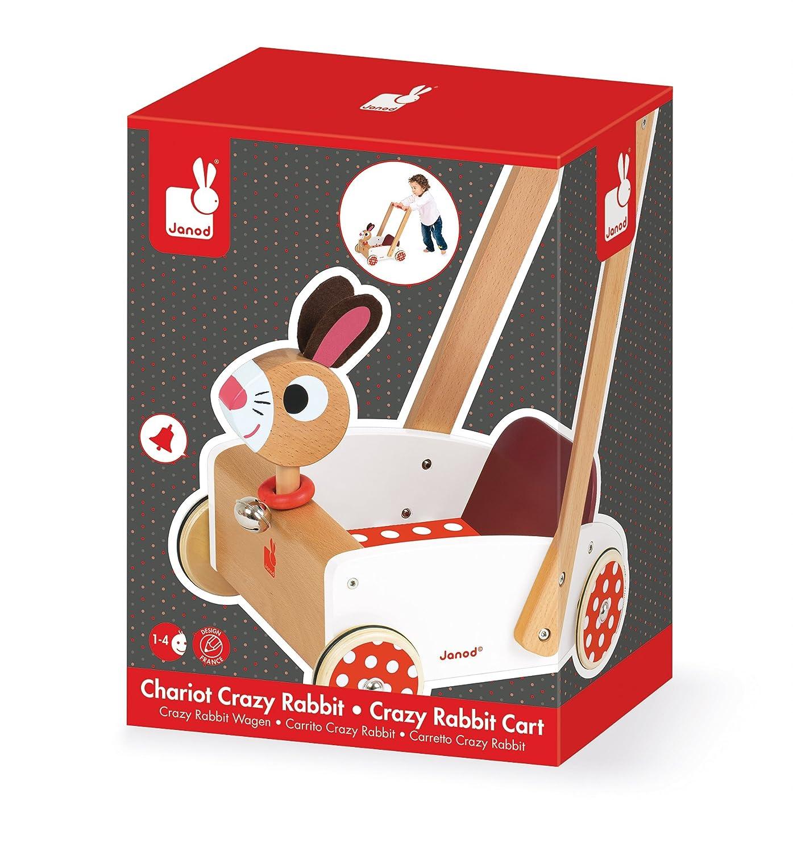 Janod - Crazy Rabbit Andador Carrito de madera (J05997): Amazon.es ...