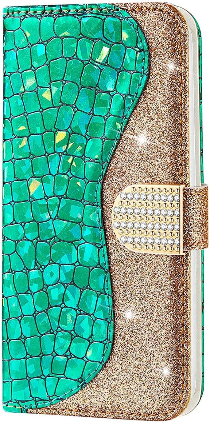 CTIUYA Schutzh/ülle f/ür Samsung Galaxy Note 10 H/ülle Glitzer Handyh/ülle PU Leder Bling Luxus Handytasche Klapph/ülle Case Gl/änzend Diamant Magnet Flip Cover Ledertasche f/ür Galaxy Note 10,Rose Gold
