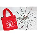Vertical Vortex Spring with RED Carry Bag Traveling Interactive Kinetic Toy