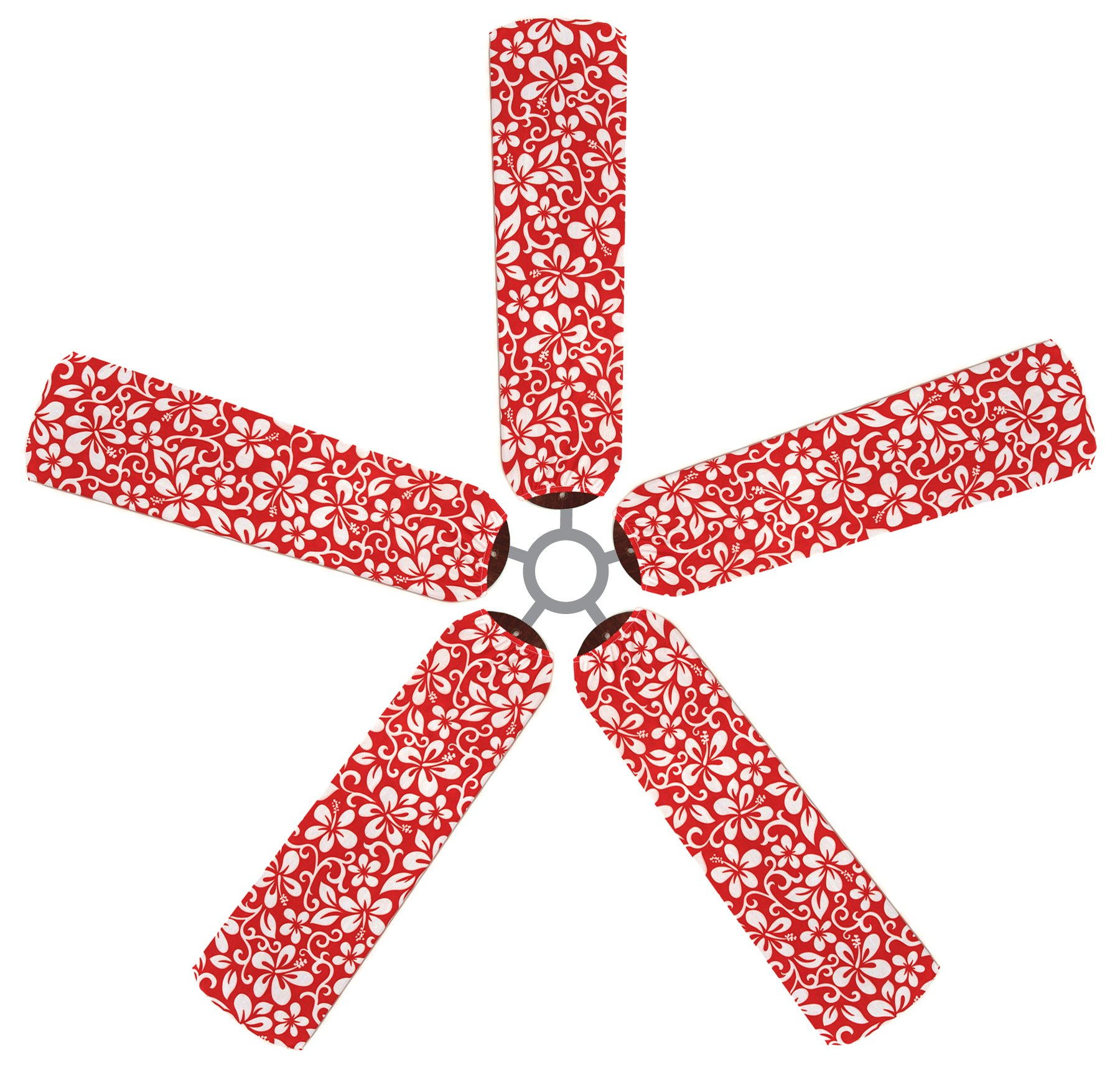 Fan Blade Designs Red Hawaiian Ceiling Fan Blade Covers