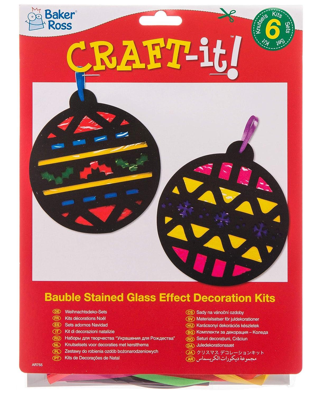 3 Unidades Kit de decoraci/ón navide/ña con Lentejuelas Baker Ross AR759