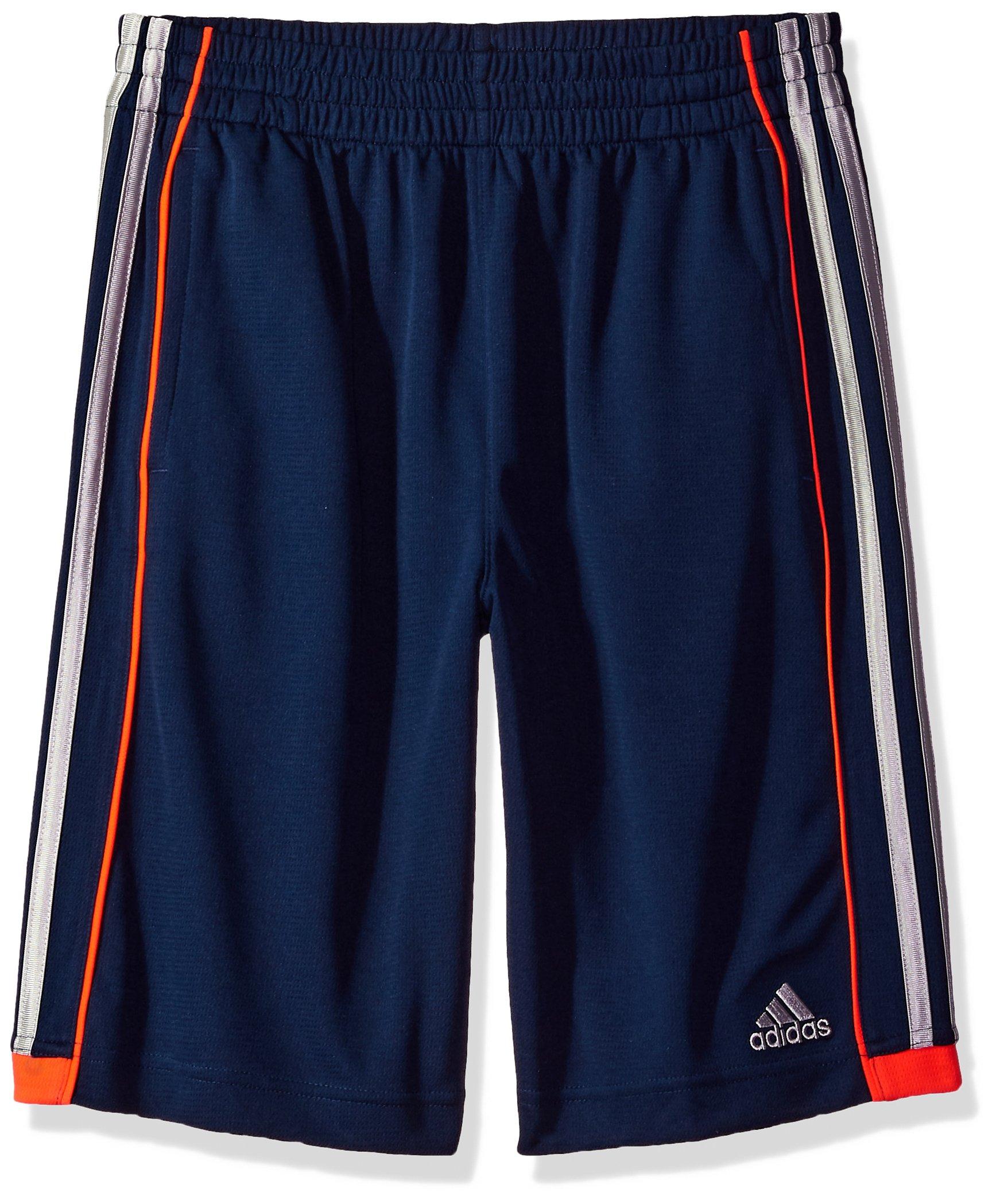 adidas Boys' Big Athletic Short, Navy/Orange M (10/12)