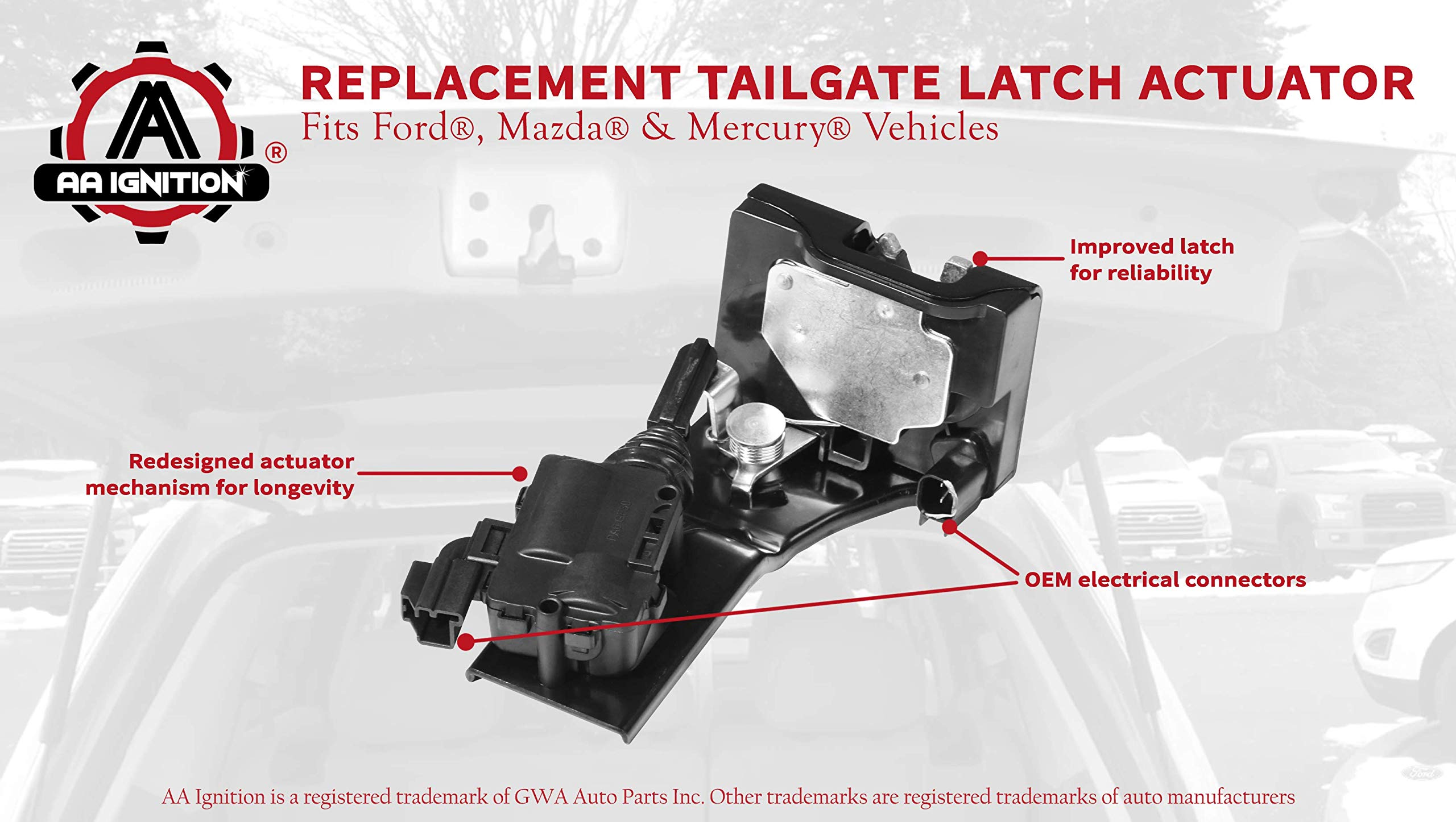 FEXON Liftgate Actuator Rear Hatch Trunk Door Latch Tailgate Lock Motor for 2009 2010 2011 2012 Ford Escape 2009-2011 Mercury Mariner 2008-2011 Mazda Tribute Replaces 937-663 9L8Z-7843150-B