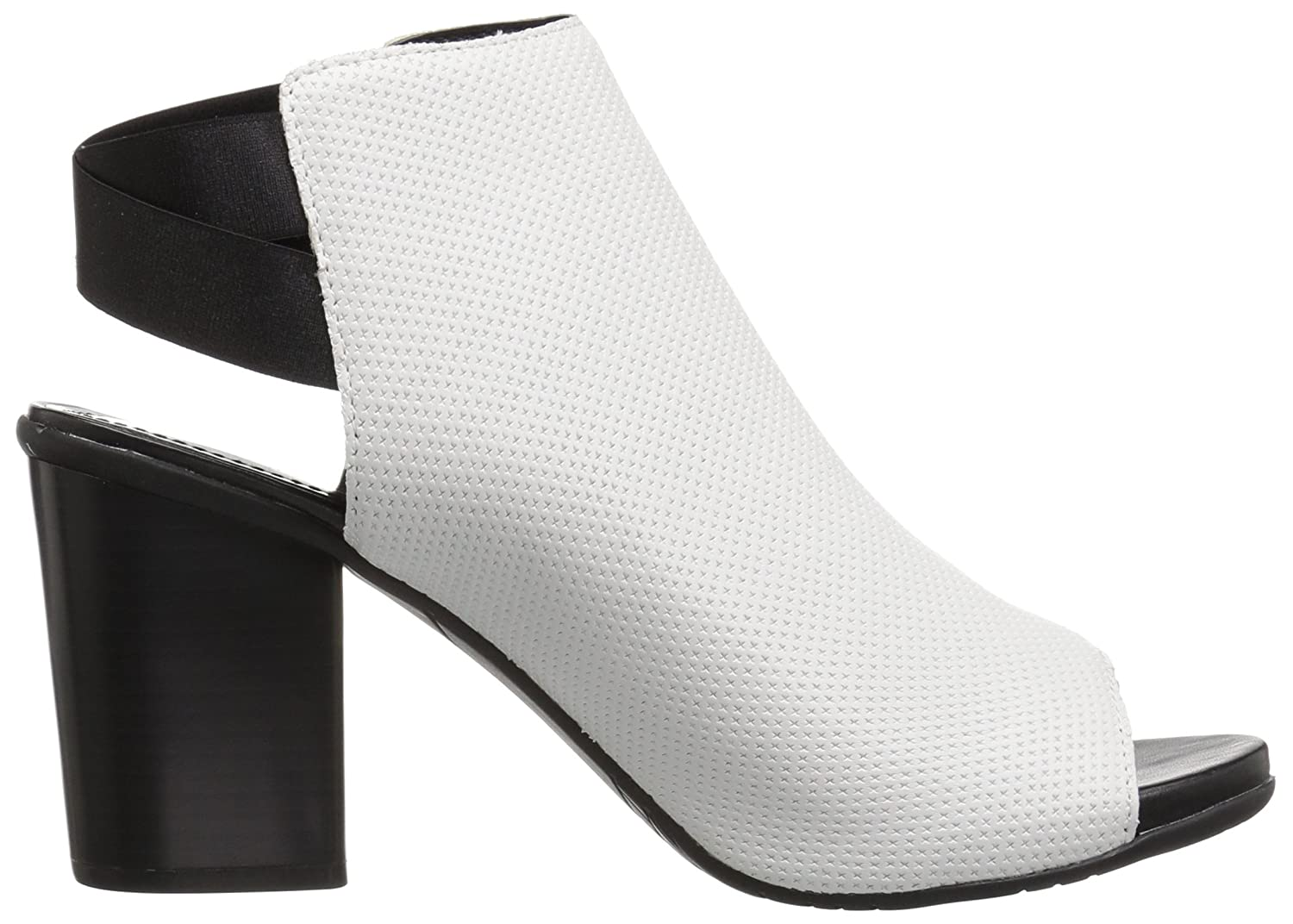 Kenneth Cole REACTION Women's Fridah Fly Toe and Open Heel Bootie Ankle Boot B077Y52CC6 7 B(M) US|White