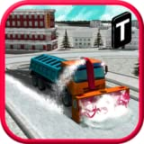 snow truck - New Snow eBlower Truck Sim 3D