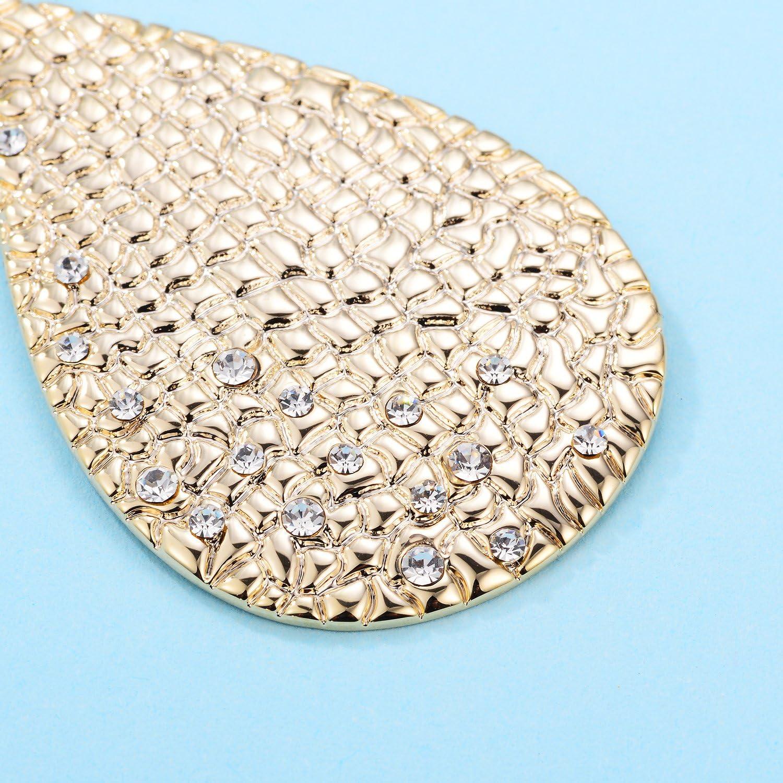 HUIMEI Fishhook Teardrop Earrings with Brushed Finished Dangle Earrings