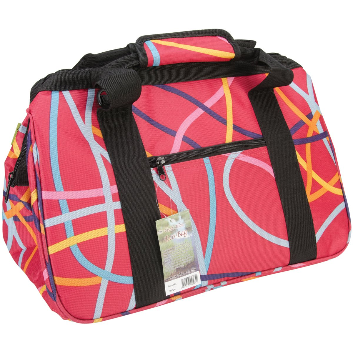 JanetBasket EB024 Eco Bag-18''X10''X12'' Ribbons