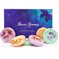 Cleverfy Shower Bombs Aromatherapy [6] Shower Steamers Gift Set With Essential Oils For Home Spa. Shower Melts a.k.a…