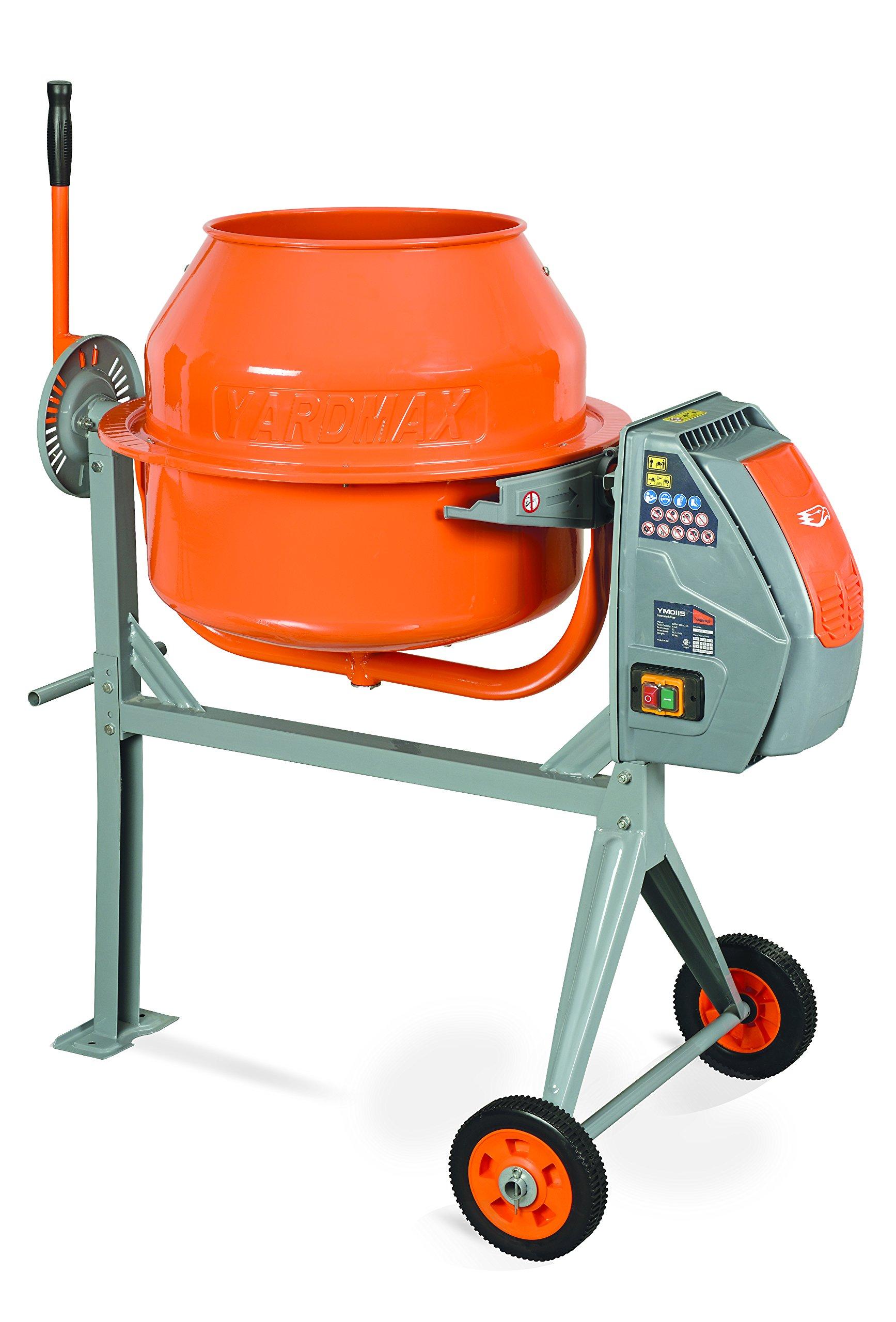 YARDMAX YM0115 4.0 Cu. Ft. Concrete Mixer