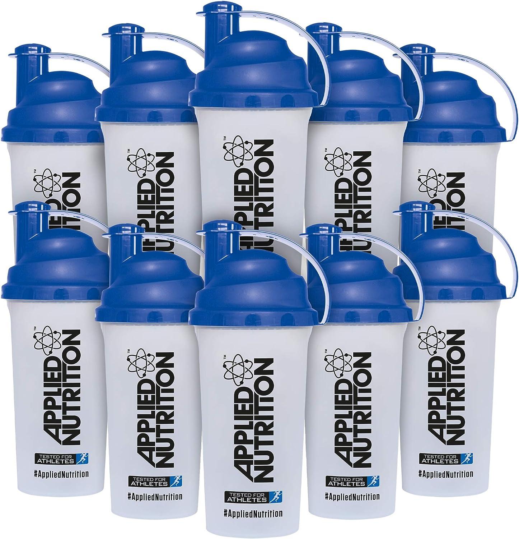 Applied Nutrition Bundle Botella de Proteína, Bebida Deportiva, Tapa Antifuga, 700 ml x 10 Unidades