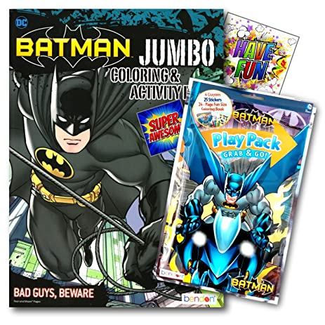 Batman Coloring Book Pack With Stickers Crayons And Activity Bundled 2 Separately