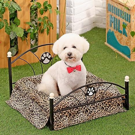 PAWZ Road Metal Mascota Cama para pequeñas y Medianas Perros con colchón 3 Colores