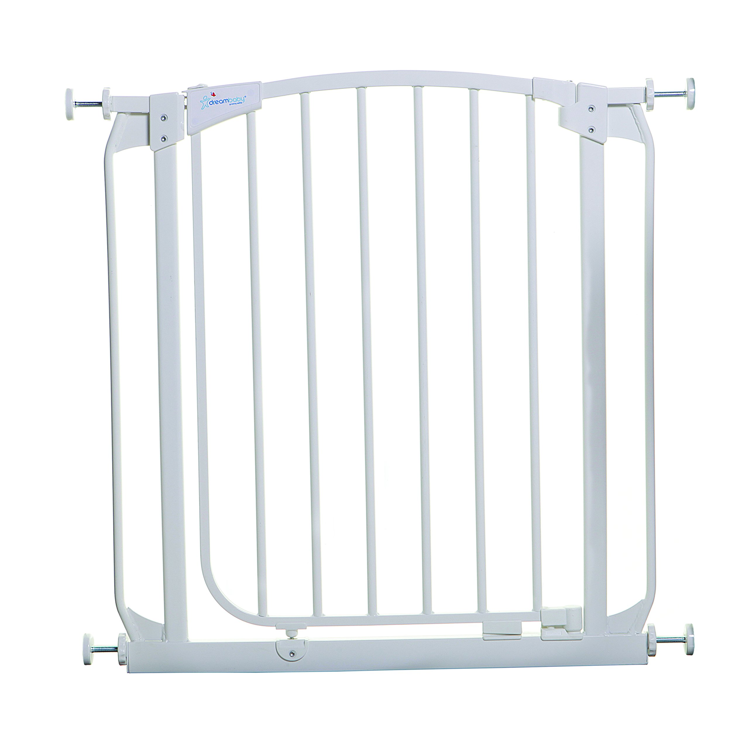 dream baby swinging security gate with extensions white