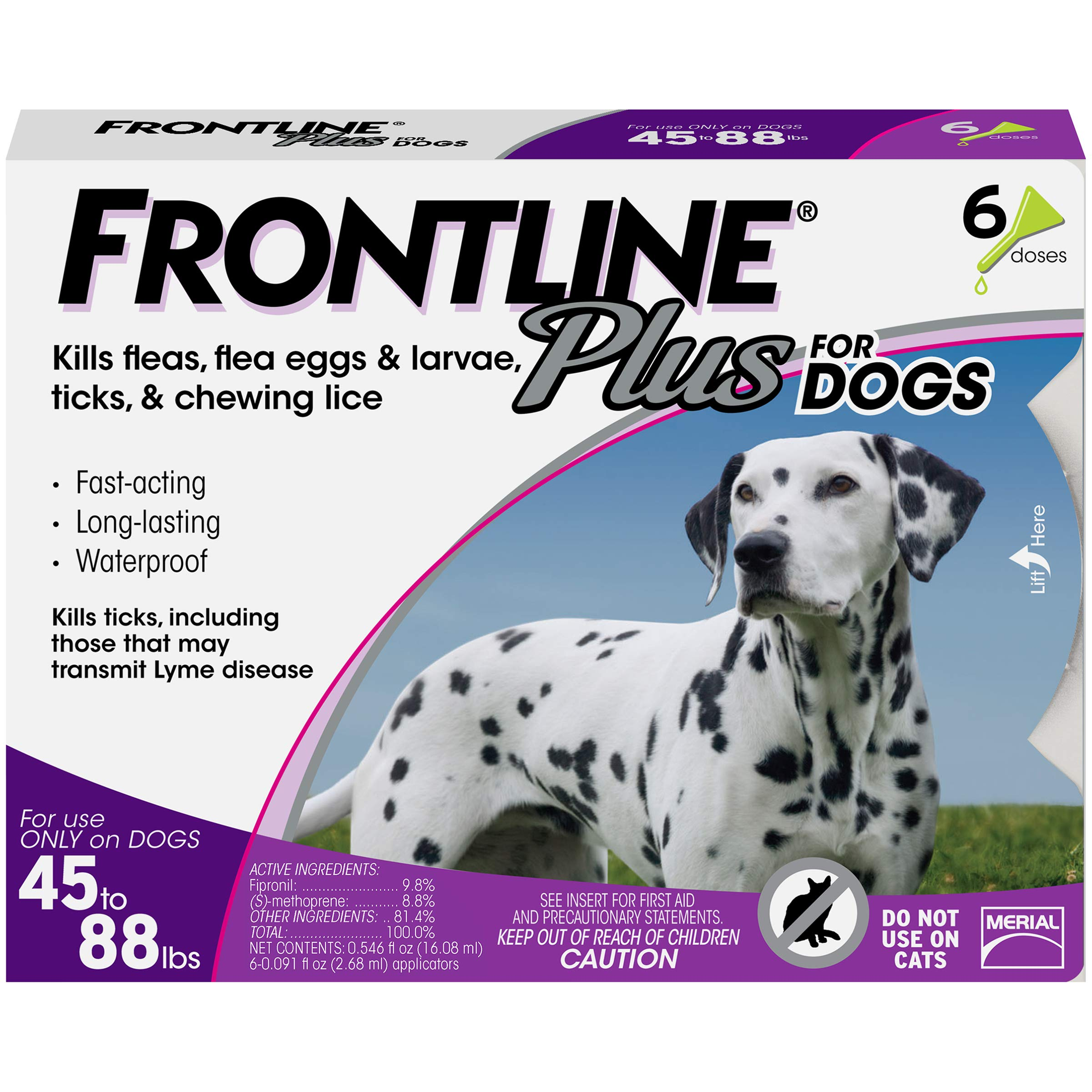 Frontline Plus for Dogs 4588 lbs Purple, 6 Month