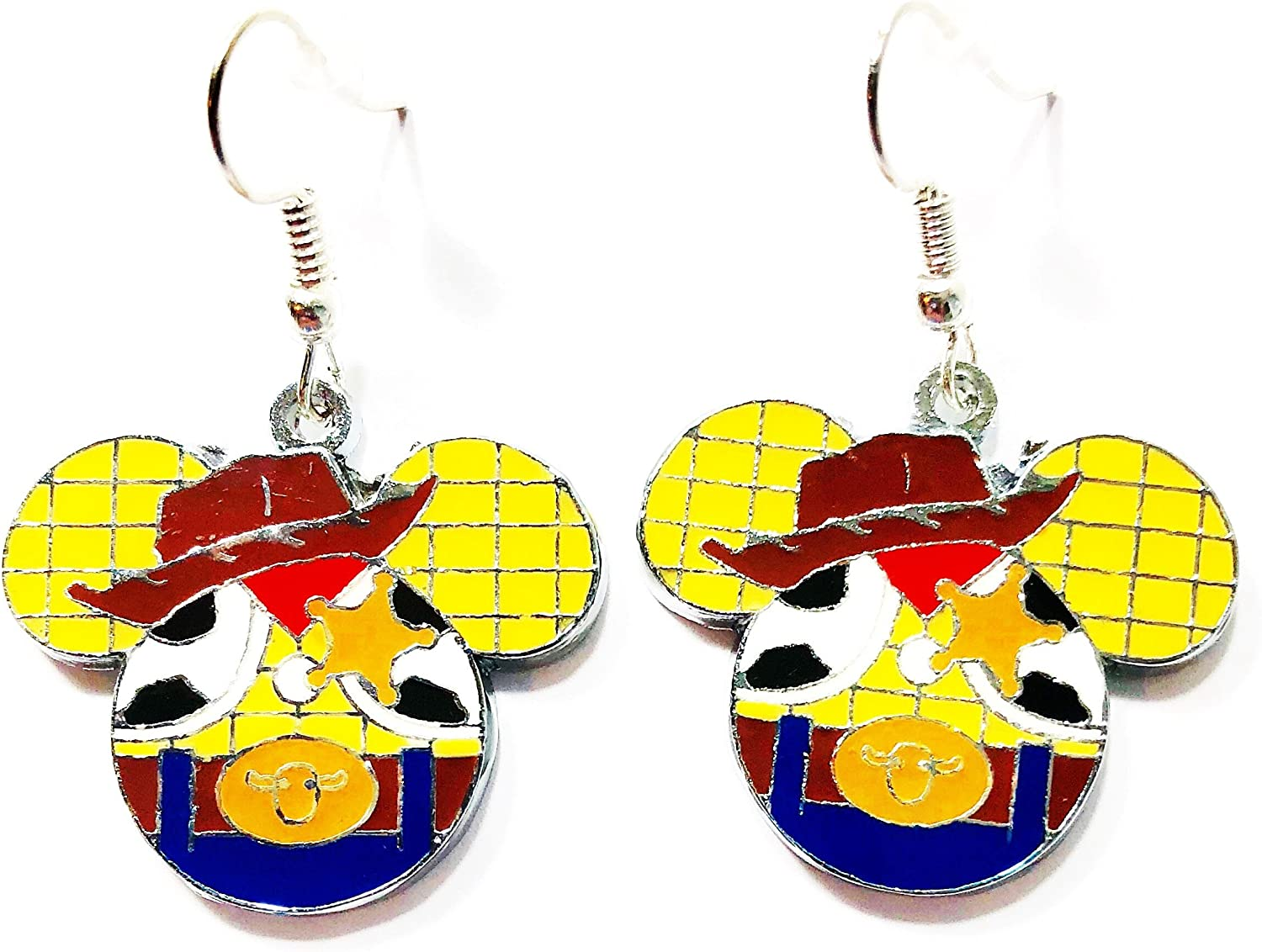 Disney Inspired Toy Story Buzz Lightyear Character Metal Enamel Stud Earrings with Gift Box
