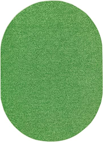 Solid Color Indoor Area Rug Lime Green