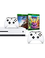 Xbox One S 1TB Two-Controller console + Forza Horizon 4 - Standard Edition+ Spyro Trilogy Reignited (Xbox One)