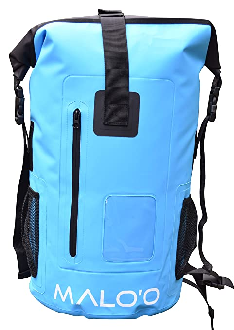 b2dc14809524 Amazon.com  Malo o DryPack Waterproof Backpack (Blue)  Sports   Outdoors